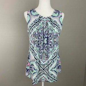 CHARTER CLUB Women's Stretch Top Print Sleeveless
